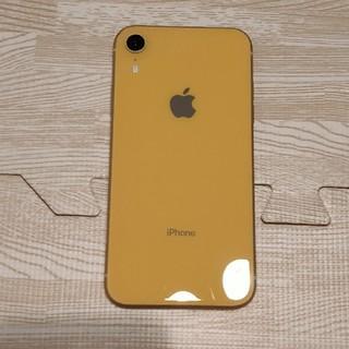 アイフォーン(iPhone)のiPhone XR 64GB simフリー シムフリー イエロー(スマートフォン本体)