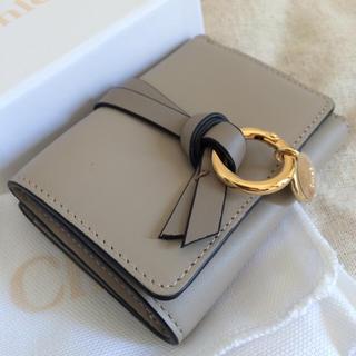 クロエ(Chloe)のChloe ミニミニ財布♡パステルグレー♡アルファベットシリーズ(財布)