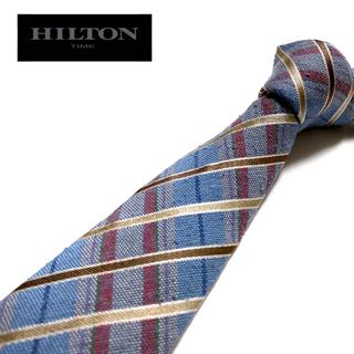 ヒルトンタイム(HILTON TIME)の【良品】HILTON TIME ネクタイ イタリア製 チェック柄(ネクタイ)
