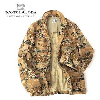 SCOTCH & SODA - SCOTCH&SODA ハワイアン総柄◎ワイヤー襟テーラードジャケット