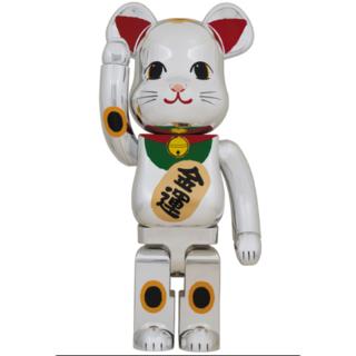 BE@RBRICK 招き猫 銀メッキ 弐 1000% ベアブリック(その他)