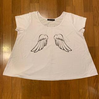 カウイジャミール(KAWI JAMELE)のKAWI JAMEALE 羽プリントTシャツ(Tシャツ(半袖/袖なし))
