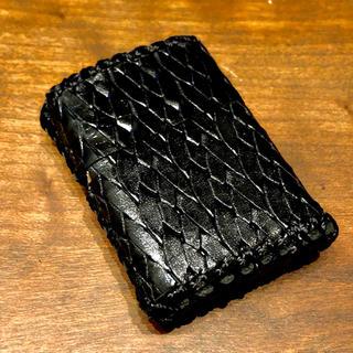 ジッポー(ZIPPO)の[本革]  zippo用 レザーケース カバー 革ケース 革巻き メッシュ柄(タバコグッズ)