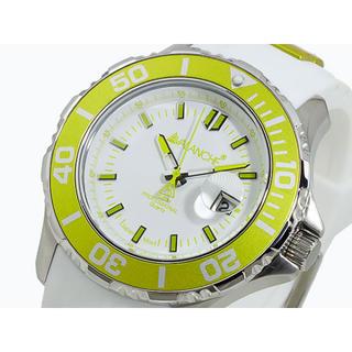 アヴァランチ(AVALANCHE)のアバランチ AVALANCHE 腕時計 ライムグリーン×ホワイト ホワイト(腕時計(アナログ))