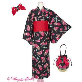 アンジェリックプリティー(Angelic Pretty)のAngelic pretty Royal Crown Berry浴衣Set クロ(浴衣)