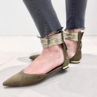 アパルトモンドゥーズィエムクラス(L'Appartement DEUXIEME CLASSE)の☆アパルトモン☆ AQUAZZURA Ankle Flat Shoes/36(ハイヒール/パンプス)