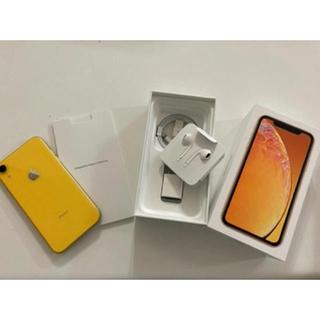 アイフォーン(iPhone)のiPhone XR イエロー 128 GB   SIMフリー(スマートフォン本体)