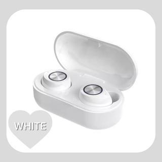 【即購入ok】tw60  ホワイト ワイヤレスイヤフォン tws(ヘッドフォン/イヤフォン)