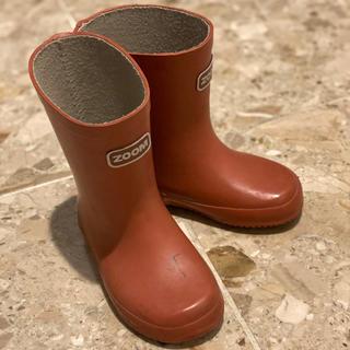 ズーム(Zoom)の長靴 ZOOM 赤 15.0cm(長靴/レインシューズ)