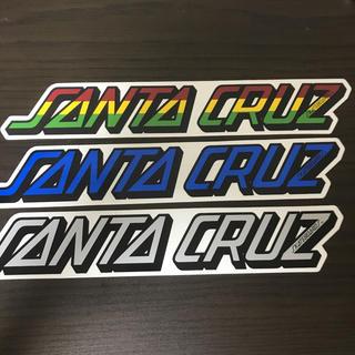 【縦4.5cm横25cm】SANTA CRUZ  ステッカー 大1枚のお値段(スケートボード)