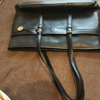 ティンバーランド(Timberland)のティンバーランド革製黒色トートバッグ美品(トートバッグ)