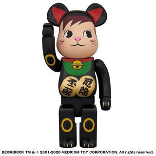 メディコムトイ(MEDICOM TOY)のBE@RBRICK 招き猫 ポコちゃん 黒 400%(模型/プラモデル)