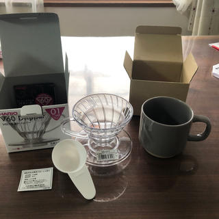 ハリオ(HARIO)のHARIO V60 Dripper ドリッパーとカップのセット(コーヒーメーカー)