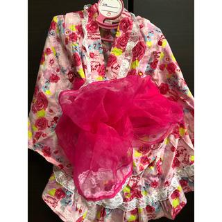 サンカンシオン(3can4on)の浴衣ドレス 110㌢(甚平/浴衣)