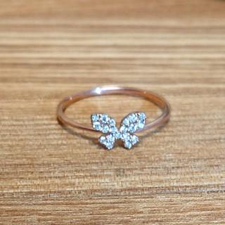アーカー(AHKAH)のエステール ダイヤモンド バタフライリング(リング(指輪))