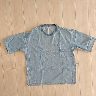 ジーユー(GU)の【GU】デニムTシャツ 綿100%(Tシャツ/カットソー(半袖/袖なし))