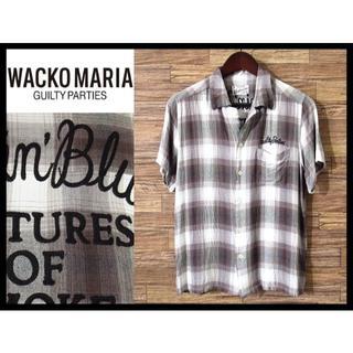 ワコマリア(WACKO MARIA)のWACKO MARIA ワコマリア オンブレチェック 刺繍 レーヨン シャツ M(シャツ)