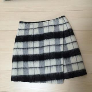 マーキュリーデュオ(MERCURYDUO)のマーキュリーチェックシャギースカート(ミニスカート)