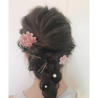 桜のヘアアクセサリー