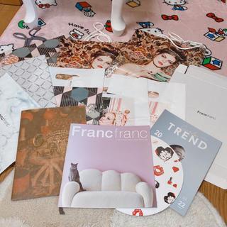 フランフラン(Francfranc)のフランフラン Francfranc 紙袋 カタログ まとめて 13点セット(ショップ袋)