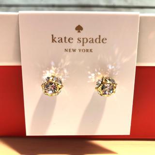 ケイトスペードニューヨーク(kate spade new york)のケイトスペード ゴールド ピアス マーマレード スワロフスキー ブランド 新品(ピアス)