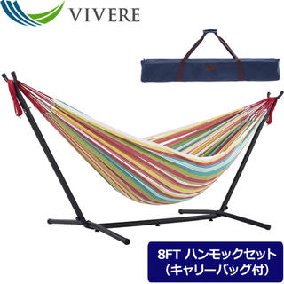 ★新品★VIVERE 自立型 ハンモック セット hammock ケース付き(寝袋/寝具)