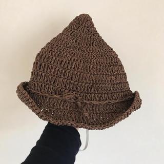 シマムラ(しまむら)の46cm 麦わら帽子 とんがり(帽子)