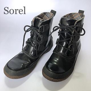 ソレル(SOREL)のタウンユースが出来る!街中でもおしゃれ☆ソレル レインブーツ ブラック(レインブーツ/長靴)
