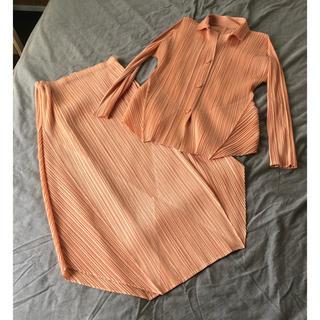 プリーツプリーズイッセイミヤケ(PLEATS PLEASE ISSEY MIYAKE)のプリーツプリーズ ジャケット&スカート(セット/コーデ)