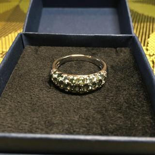 本日限定値引き パラジウムシルバー950 グリーンサファイア リング(リング(指輪))