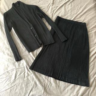 イッセイミヤケ(ISSEY MIYAKE)の値下げ イッセイミヤケ ジャケット&スカート(セット/コーデ)