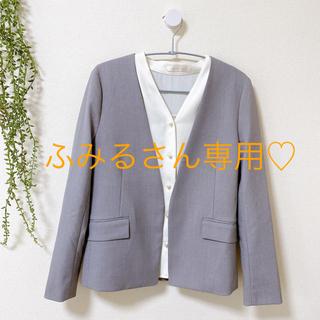 ジーユー(GU)のGU♡ノーカラージャケット Sサイズ(ノーカラージャケット)