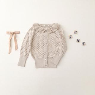 キャラメルベビー&チャイルド(Caramel baby&child )のIona Cardigan, Milk  4-5y(カーディガン)
