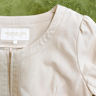 プロポーションボディドレッシング(PROPORTION BODY DRESSING)のPROPORTION BODY DRESSING❤︎七分袖 ノーカラージャケット(ノーカラージャケット)