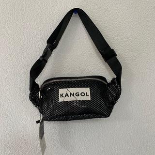 カンゴール(KANGOL)の新品 カンゴール 黒 ブラック ウエストポーチ ウエストバッグ メッシュ(ウエストポーチ)