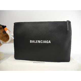 バレンシアガ(Balenciaga)のバレンシアガ クラッチバッグ ショッピングクリップL レザー黒白 ポーチ大 極美(リュック/バックパック)