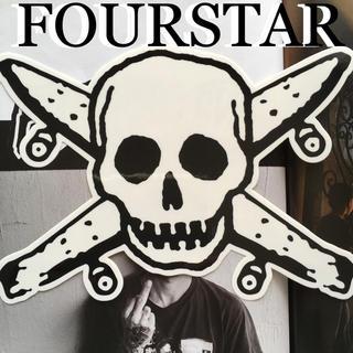 フォースター(FOURSTAR)のFOURSTARフォースターUS限定型抜BIGスカルアイコンステッカーwhite(スケートボード)
