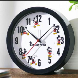 ディズニー(Disney)のステディ付録 ミッキー 置き時計(置時計)