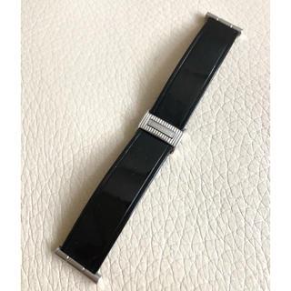 ブシュロン(BOUCHERON)のブシュロン リフレ エナメルレザーベルト黒 Mサイズ(腕時計)
