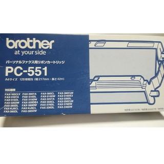 ブラザー(brother)のbrotherパーソナルファクス用リボンカートリッジPC‐551(オフィス用品一般)