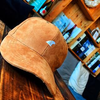 ベイフロー(BAYFLOW)の正規品☆LUSSO SURF スウェード刺繍キャップ 帽子☆RVCA(キャップ)
