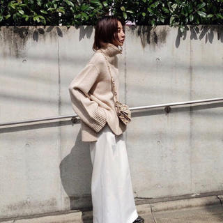 moussy -  HI NECK BIG ニット