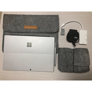マイクロソフト(Microsoft)のSurface Pro 4 i5 4GB/128GB  純正ペン、カバー付属(ノートPC)