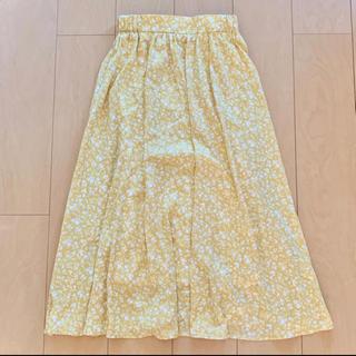 HONEYS - Honeys 花柄 黄色 ロングスカート 夏