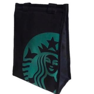 スターバックスコーヒー(Starbucks Coffee)の【即購入大歓迎】スターバックス 保冷・保温 コンパクトトートバッグ 黒(トートバッグ)