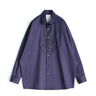 SHAREEF - shareef 18ss stripe l/s big shirt