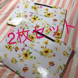 ウィルセレクション(WILLSELECTION)のウィルセレクション 限定 ショッパー 花柄 ひまわり 春 夏 紙袋 袋(ショップ袋)