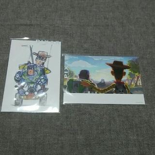 ディズニー(Disney)のピクサー展購入 ポストカード 2枚セット トイストーリー(使用済み切手/官製はがき)