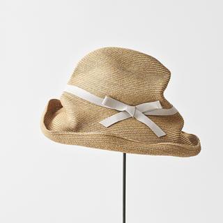 ネストローブ(nest Robe)のマチュアーハ ボックスハット 麦わら帽子(麦わら帽子/ストローハット)