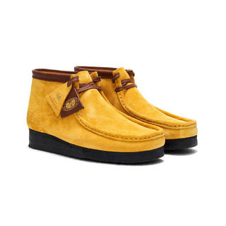 Clarks - CLARKS×Wu Wear Wallabee Yellow Suede UK8
